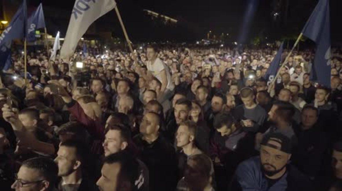 Serbia: Celebrations in Pristina as ex-KLA commander Haradinaj wins snap-election