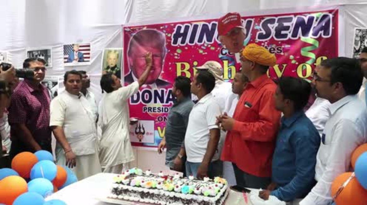 India: Hindu Sena throws birthday bash for Donald Trump