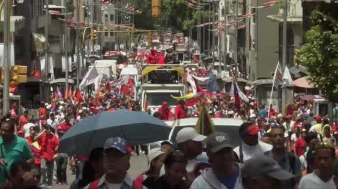 Venezuela: Thousands of Maduro supporters flood streets of Caracas