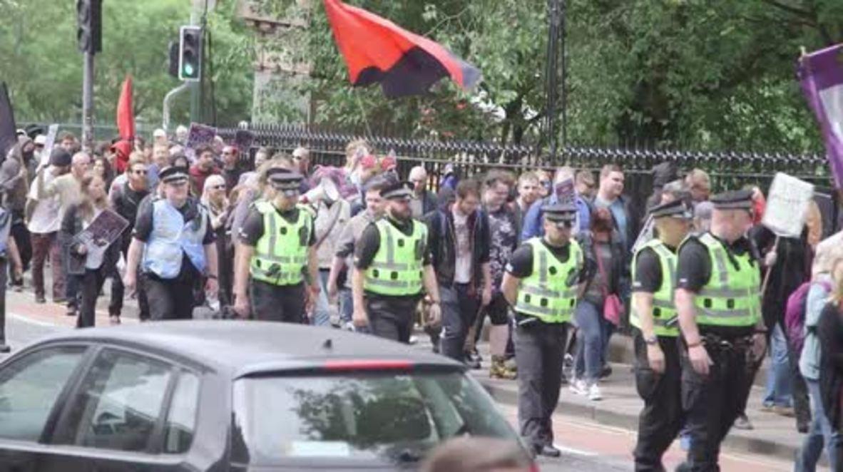 UK: Far-right anti-Islam rally met with huge counter-demo in Edinburgh