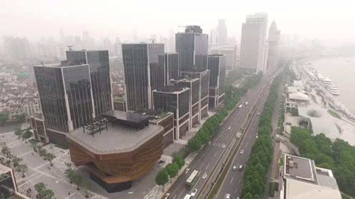 China: The art of motion – 'Bronze bamboo' facade of Shanghai's latest landmark MOVES