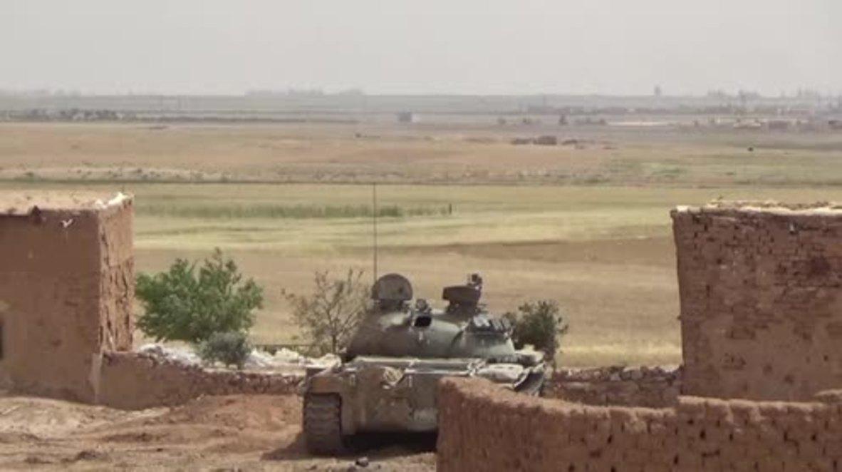 Syria: SAA pushes back IS in Aleppo's Khanasir region