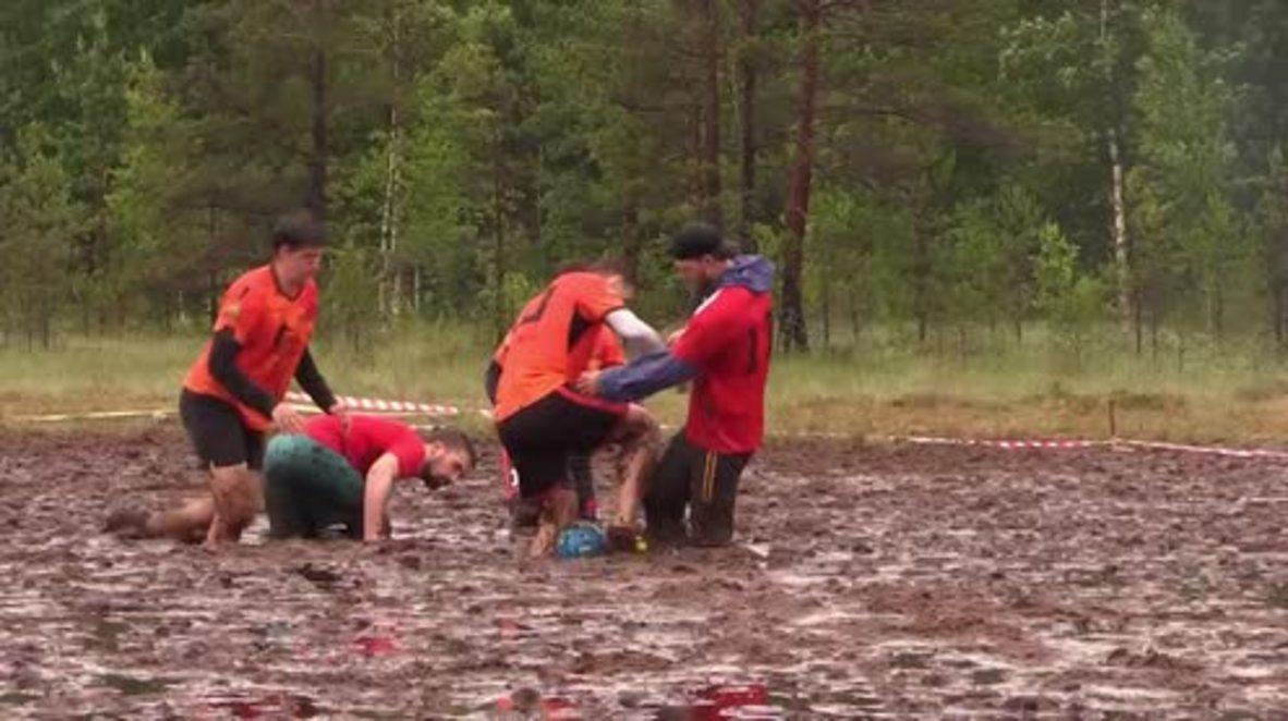 Filthy play! Russian Swamp Football Championship held in Leningrad Region