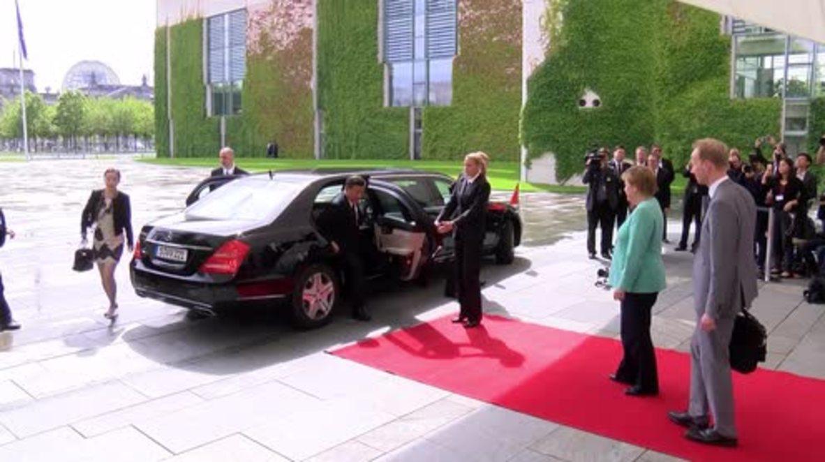 Germany: Merkel affirms strong China ties during Jinping's state visit
