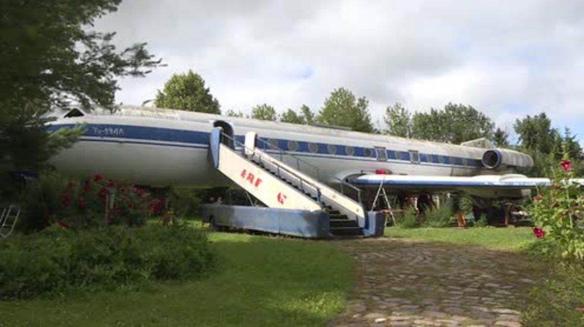 Huge Soviet jet removed from pensioner's garden after 3 decades