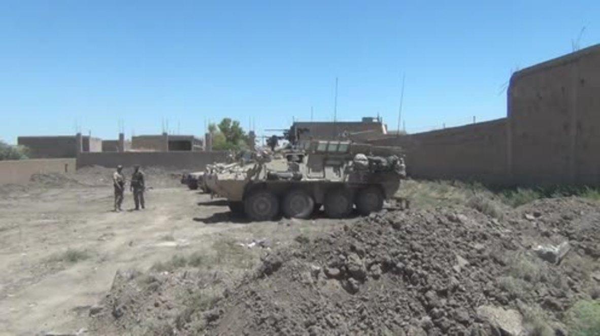 Syria: US troops operating alongside SDF in eastern neighbourhood of Raqqa *includes FILE FOOTAGE*