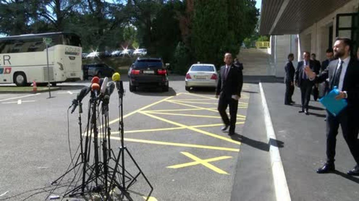 Switzerland: HNC seeks 'progress' with UN, blames Assad for 'slow progress' in Syria political reforms