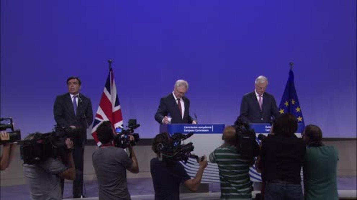 Belgium: 'Accounts must be settled' – EU's Barnier demands UK 'clarity' over Brexit bill