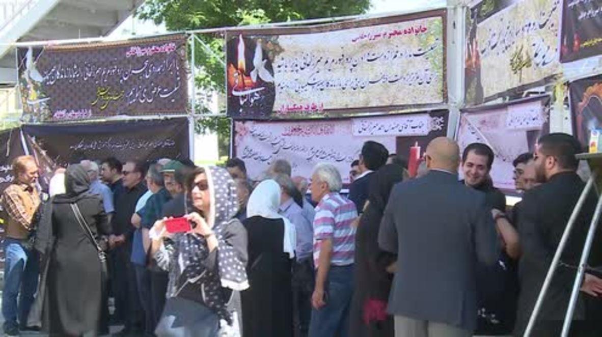 Iran: Mourners honour maths visionary Maryam Mirzakhani at Tehran funeral