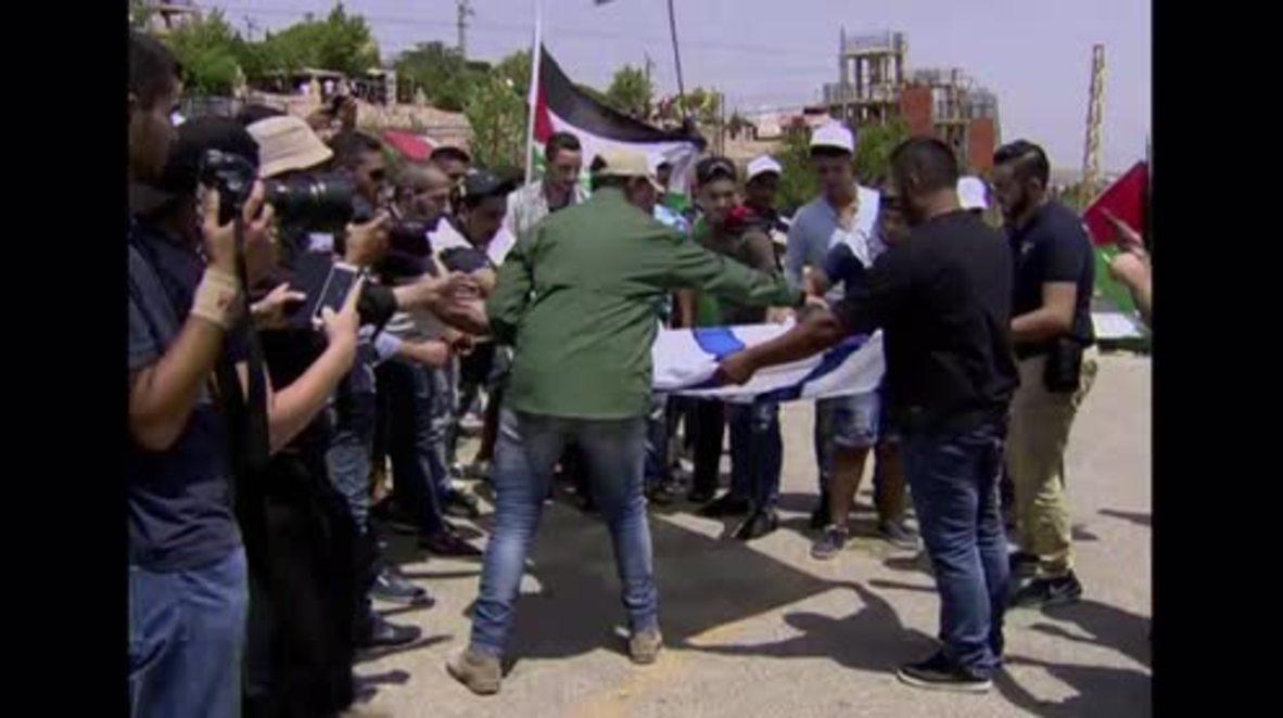 Lebanon: Israeli flag burns at solidarity rally for Palestinian 'Day of Rage'