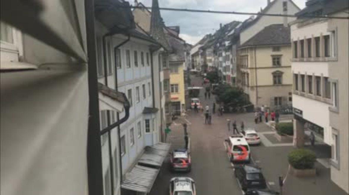 Switzerland: 5 injured in Schaffhausen chainsaw attack, police lockdown old town