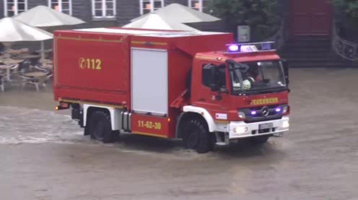 Germany: Evacuations after floods strike northern Germany