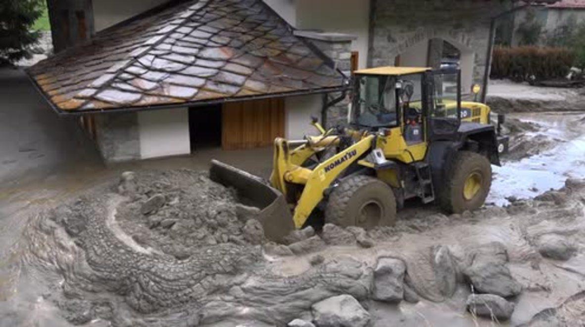 Italy: Ollomont town clean up begins after Alpine mudslide evacuates 150