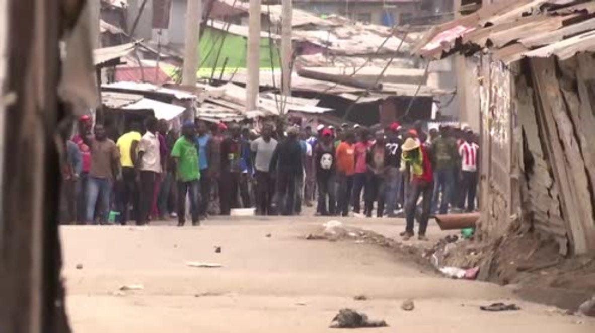 Kenya: Tear gas deployed as Nairobi residents protest election