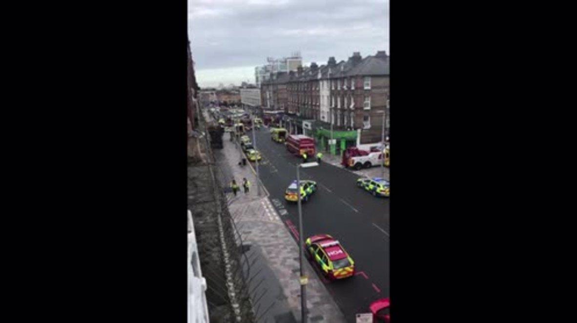 UK: Paramedics rush to scene after London bus crash