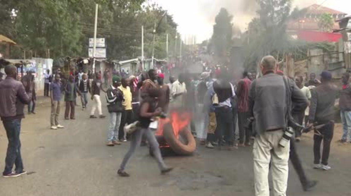 Kenya: Unrest grows in Nairobi as exit polls predict win for President Kenyatta