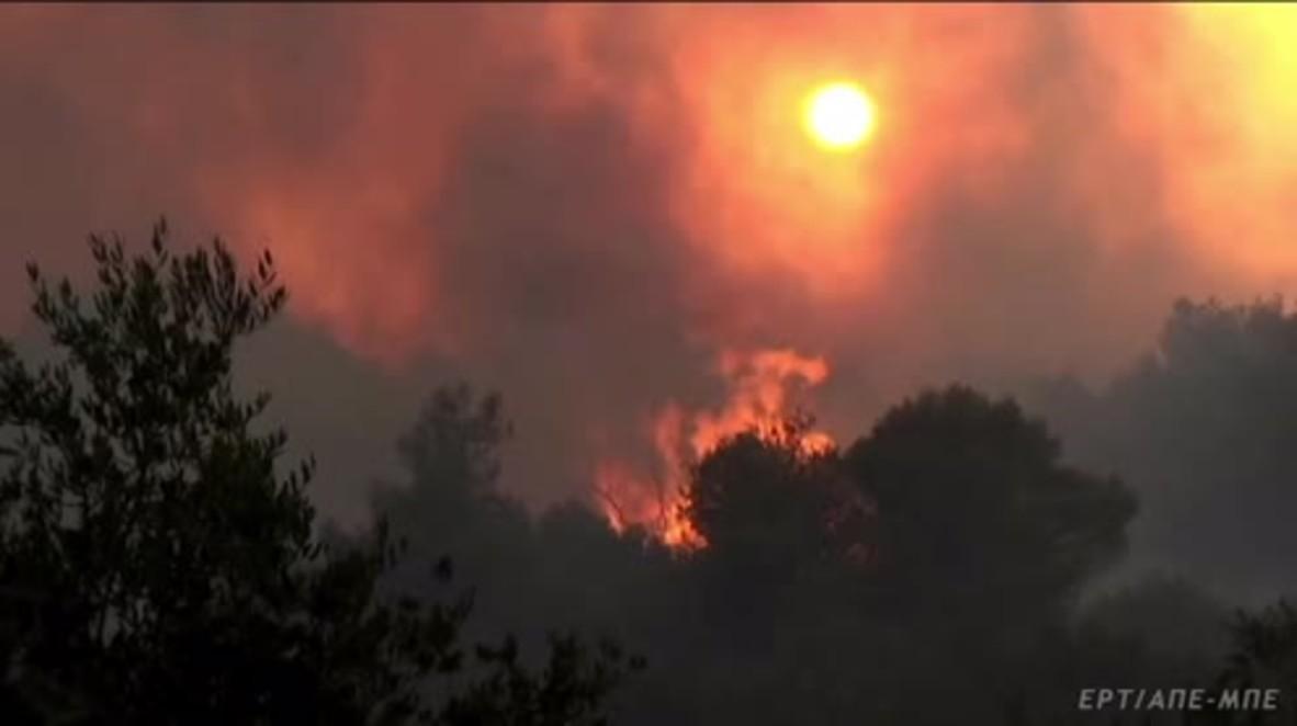 Greece: Firefighters battle huge wildfires on island of Zakynthos