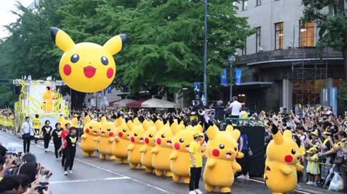 Can you catch em all? Over 1,000 Pikachus swarm Yokohama