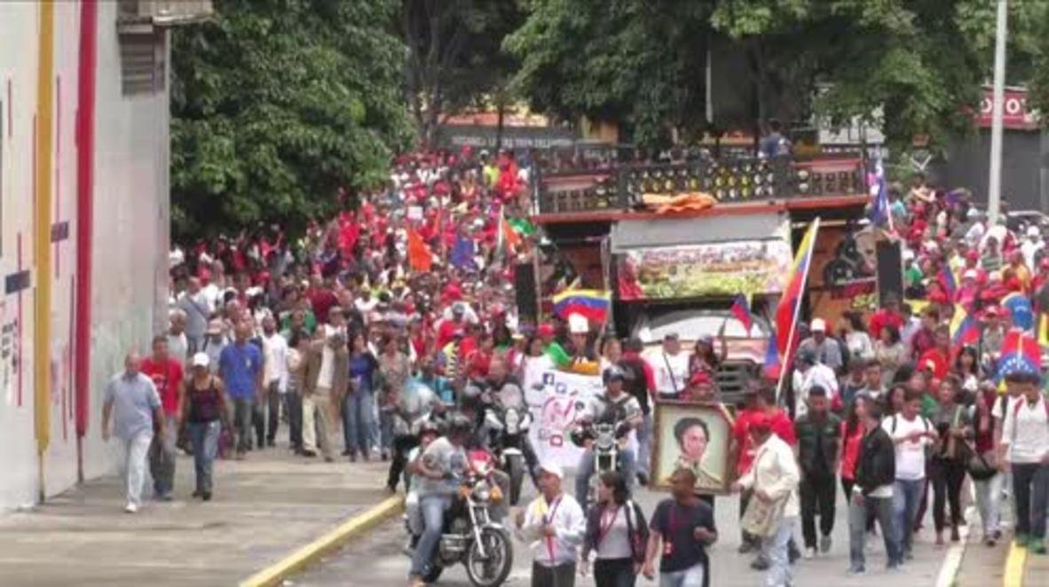 Venezuela: 'We are ready to fight' – Venezuelans march against Trump