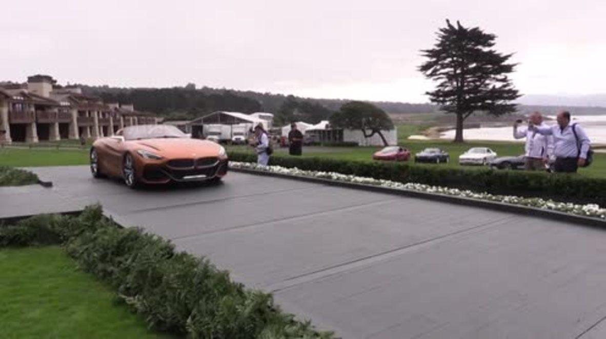 USA: BMW Z4 concept car unveiled at Pebble Beach Concours d'Elegance