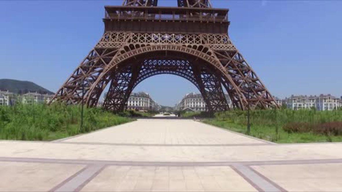 It's quiet, too quiet - drone roves over China's abandoned 'Paris'