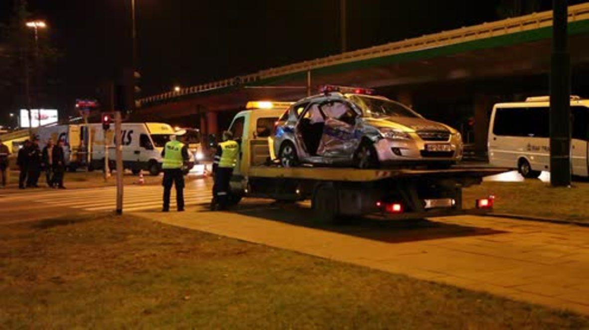 Poland: NATO chief Stoltenberg's motorcade involved in car crash, Warsaw