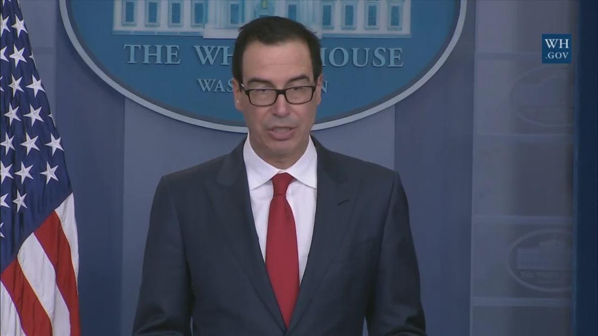 USA: New Venezuelan sanctions show 'condemnation of tyranny and dictatorship' - Mnuchin