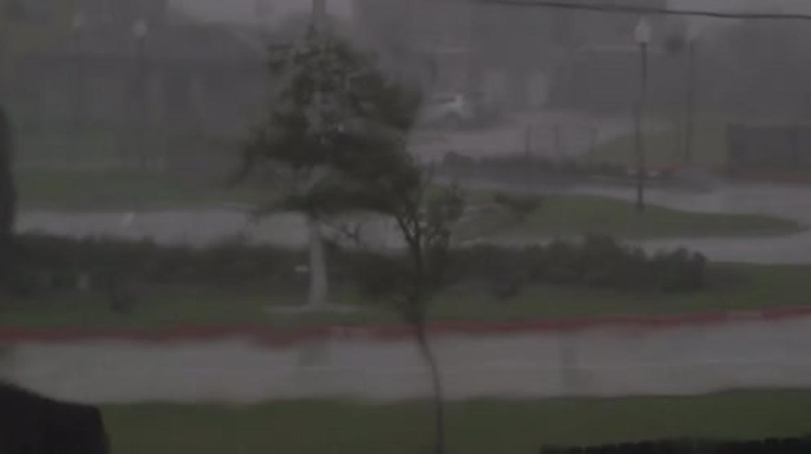 USA: Hurricane Harvey smashes into Texas