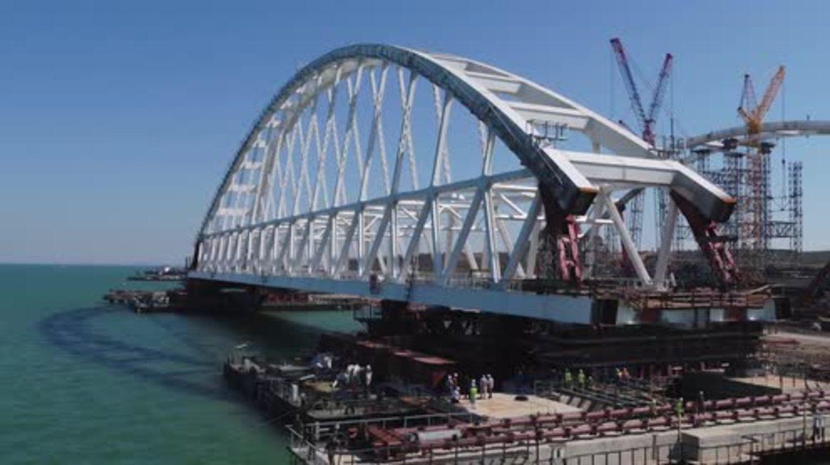 Russia: 227m, 6,000 tonne Crimea Bridge moved in complex operation