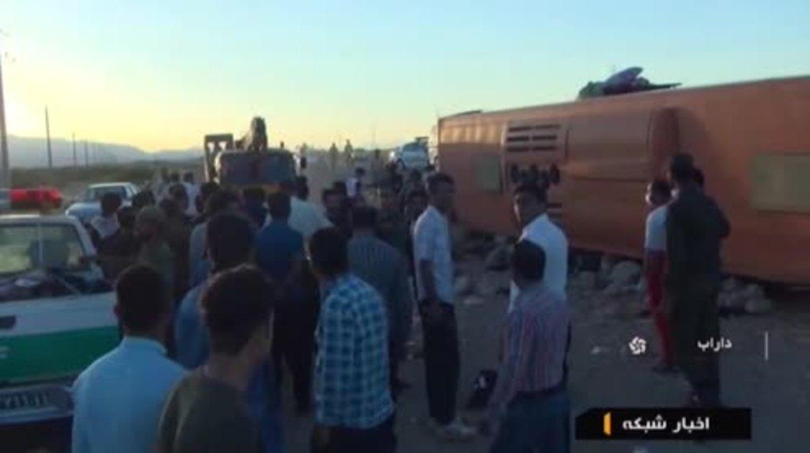 Iran: 'I heard the screaming voices' - pupil recounts school bus crash