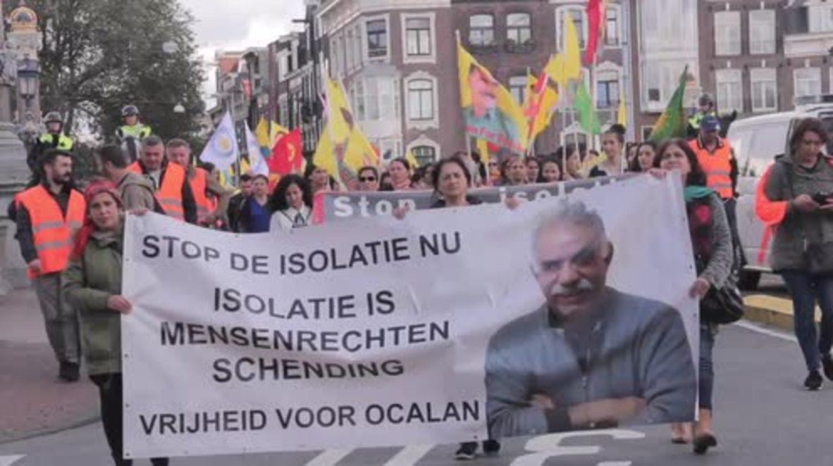 Netherlands: Kurdish protesters demand Ocalan's release in Amsterdam