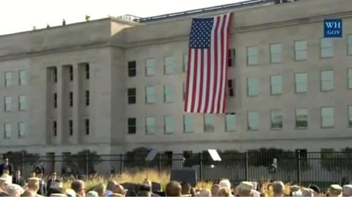 USA: Trump commemorates 9/11 victims at the Pentagon