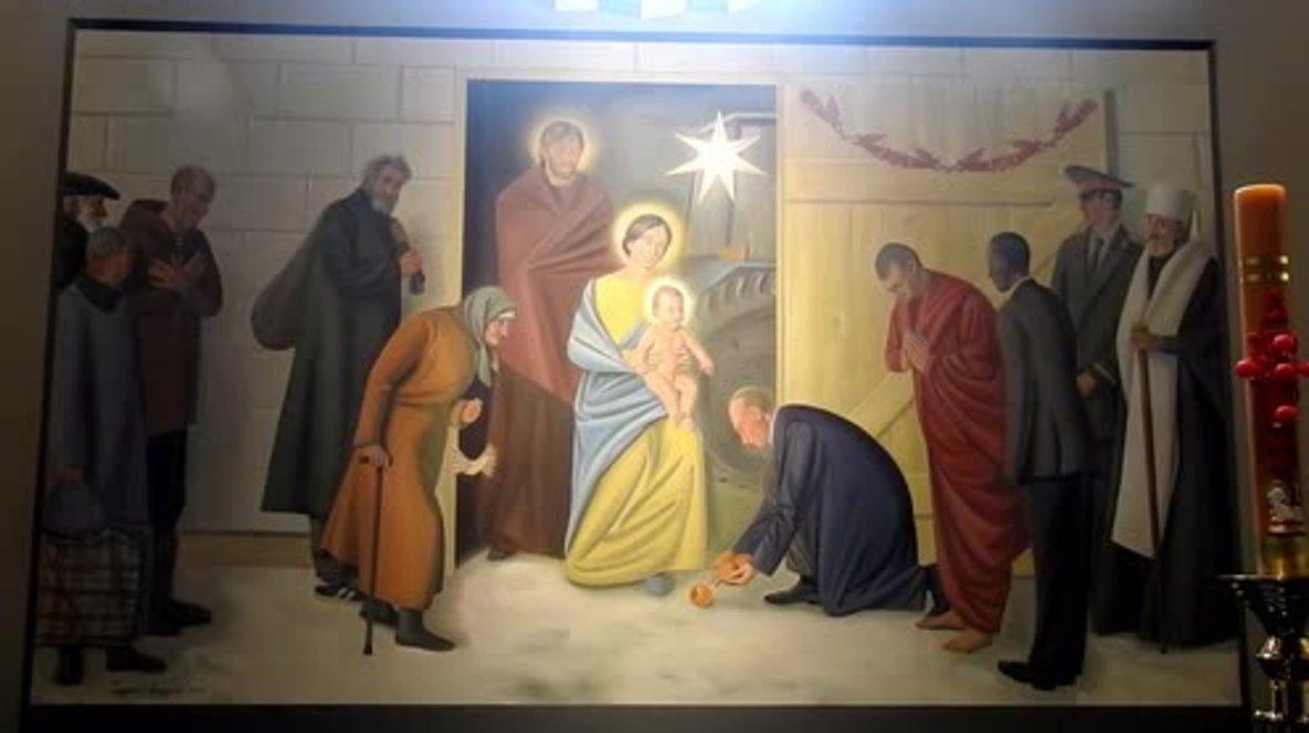 Belarus: 'No political connotation' - Putin, Obama and Dalai Lama come together in Jesus fresco