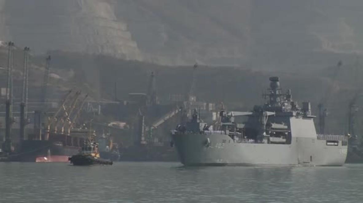 Russia: Turkish tank landing ship arrives in Novorossiysk on exchange visit