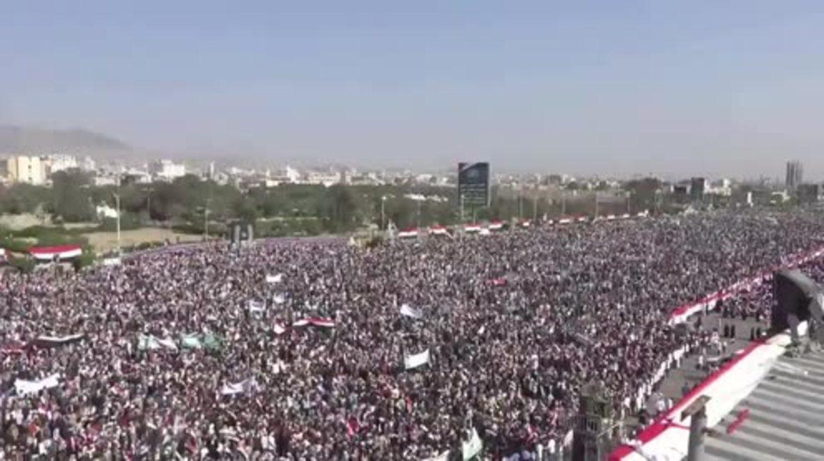 Yemen: 'A 100% Yemeni Revolution' - Houthis celebrate third takeover anniversary in Sanaa