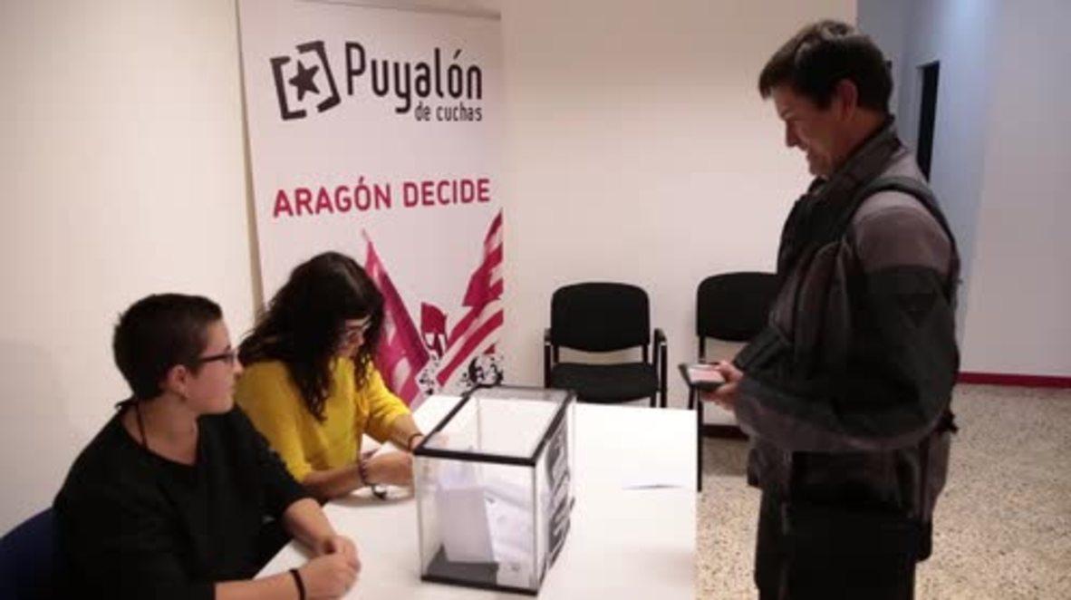 Spain: Zaragoza holds symbolic Catalan independence referendum