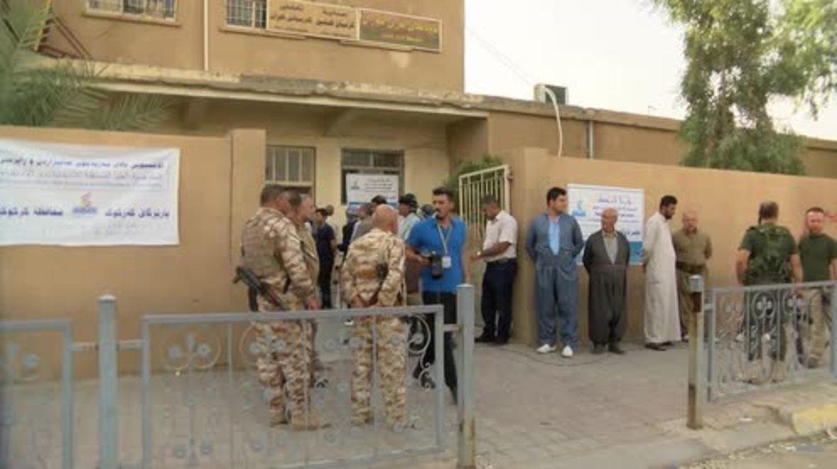Iraq: Voting for Kurdish independence referendum gets underway in Kirkuk