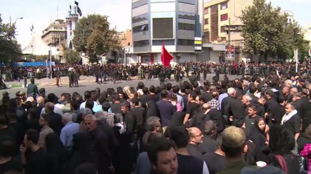 Iran: Thousands gather to commemorate Ashura festival in Tehran