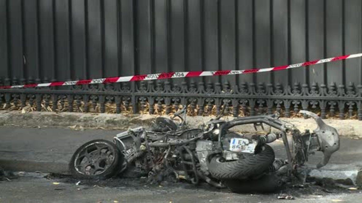 France: Motorbike explodes outside Jordan's military attache building in Paris
