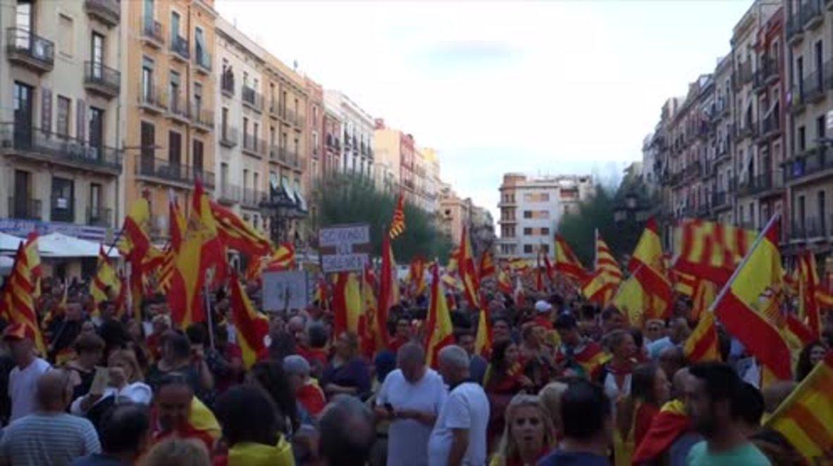 Spain: 'Stop being the silent majority' – anti-Independence rally held in Tarragona