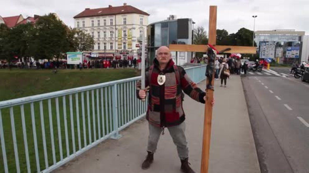 Poland: Christian 'crusaders' rally in Slubice