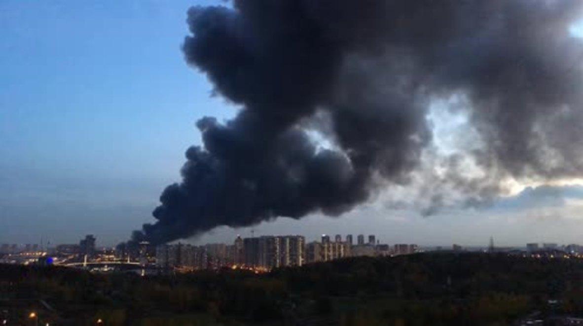 Russia: 55,000 square metre blaze at market under control - EMERCOM