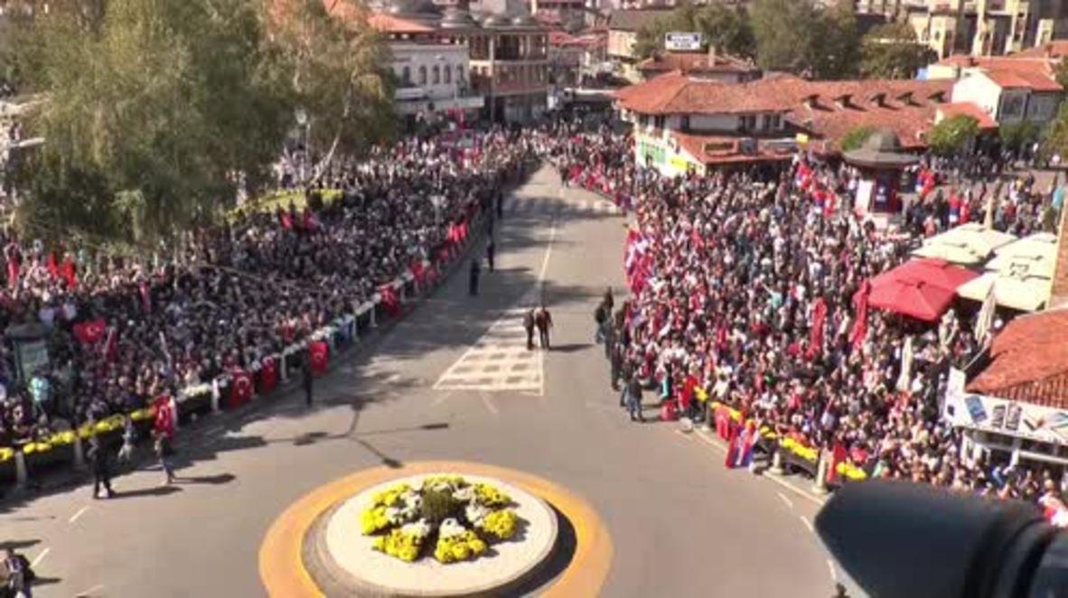 Serbia: Erdogan receives warm welcome in visit to Novi Pazar