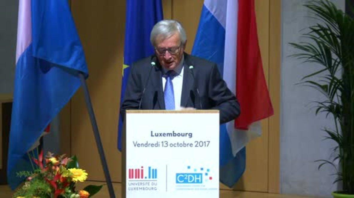 Luxembourg: Juncker warns Catalan independence will split EU