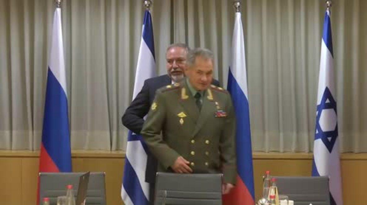 Israel: Shoigu meets with Israeli counterpart for bilateral talks in Tel Aviv
