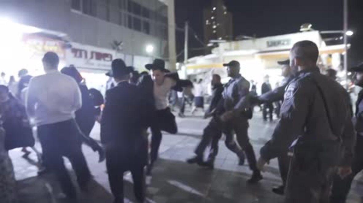 Israel: Twelve detained at ultra-Orthodox military draft protest