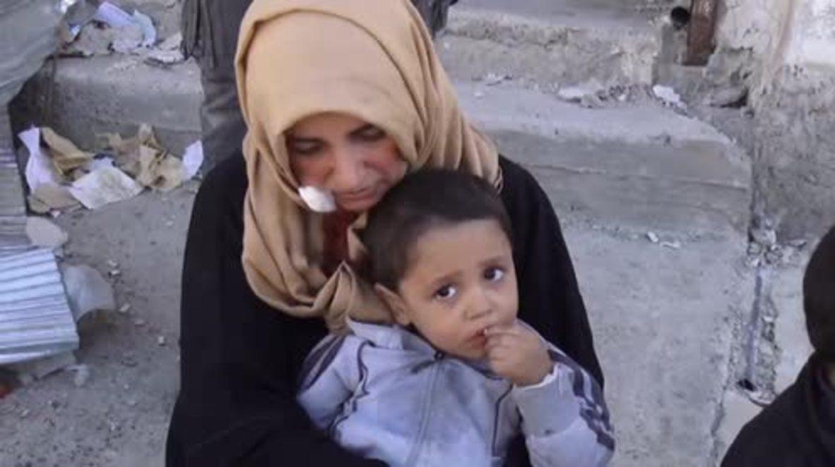 Syria: Last families to escape Islamic State in Raqqa recount horror