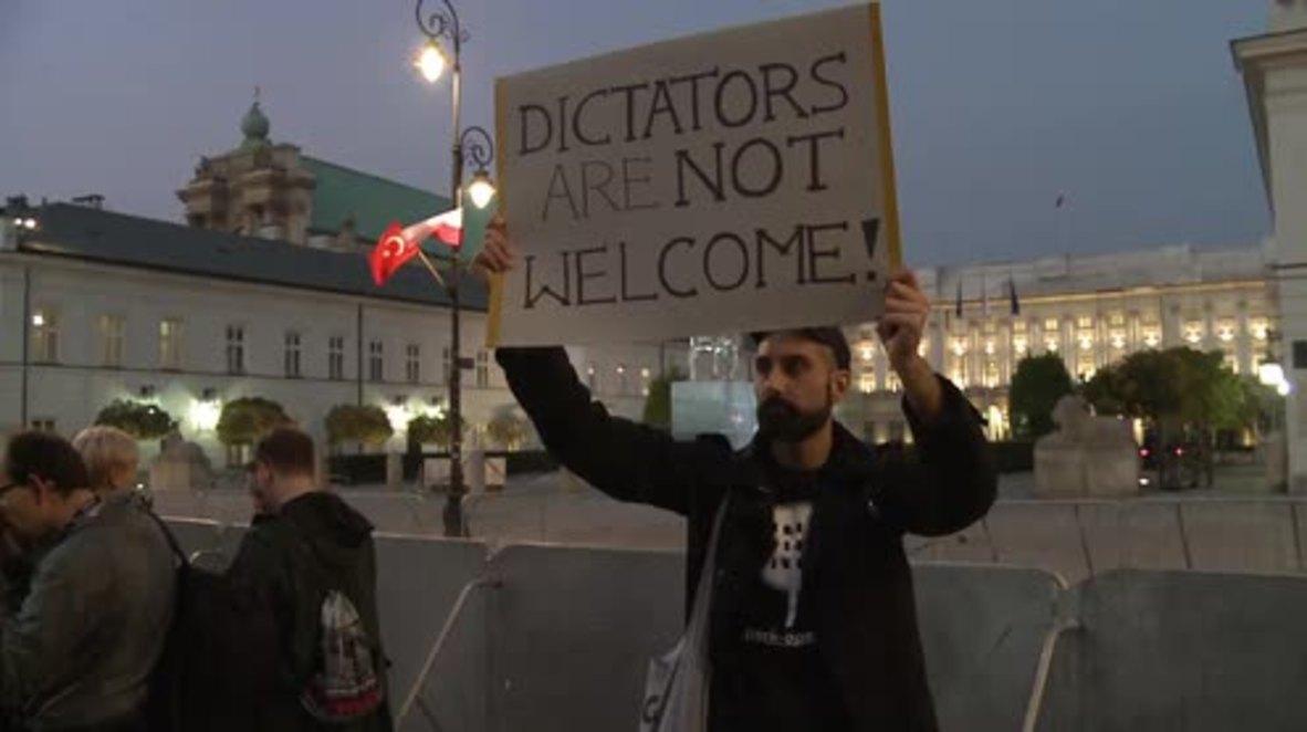Poland: Protesters condemn Erdogan's visit to Warsaw