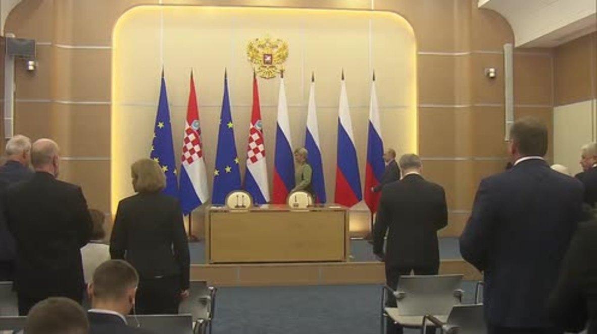 Russia: Putin and Croatian Pres. seek to expand economic cooperation