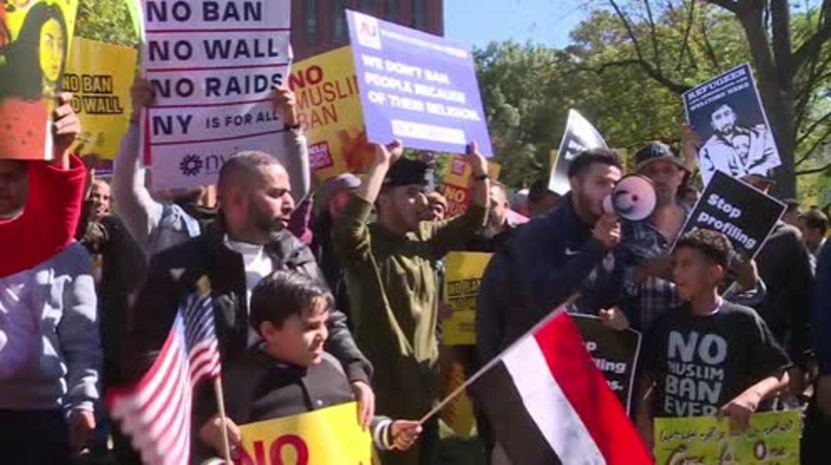 USA: Hundreds protest Trump's third travel ban
